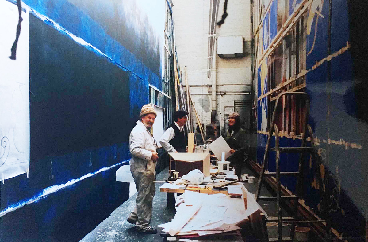 Listed Scenery painting workshop, London W1
